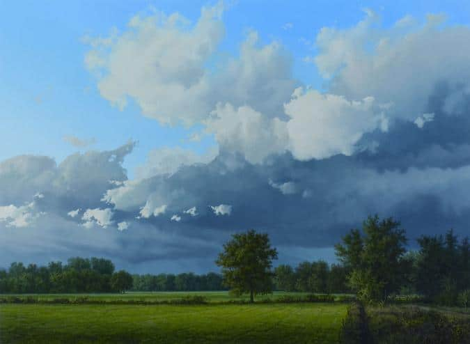 Hollands licht paul wieggers landschap schilderij
