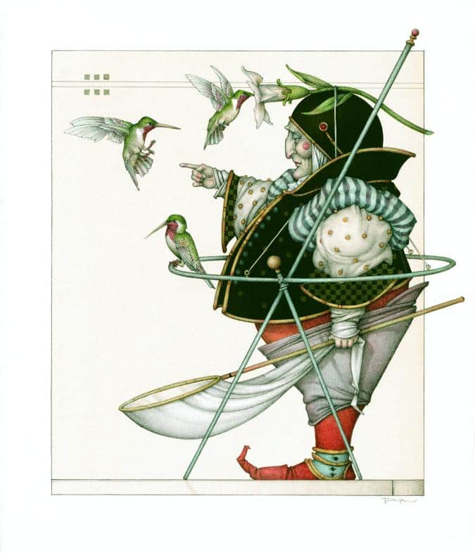 The hummingbird collector michael parkes litho