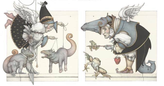 the-puppet-the-frog michael parkes litho