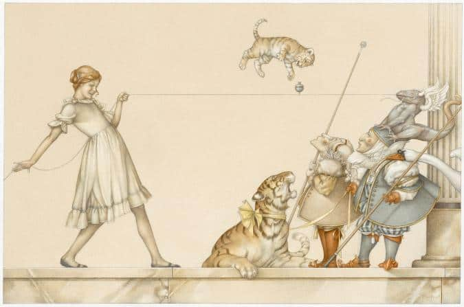The String Game michael parkes litho