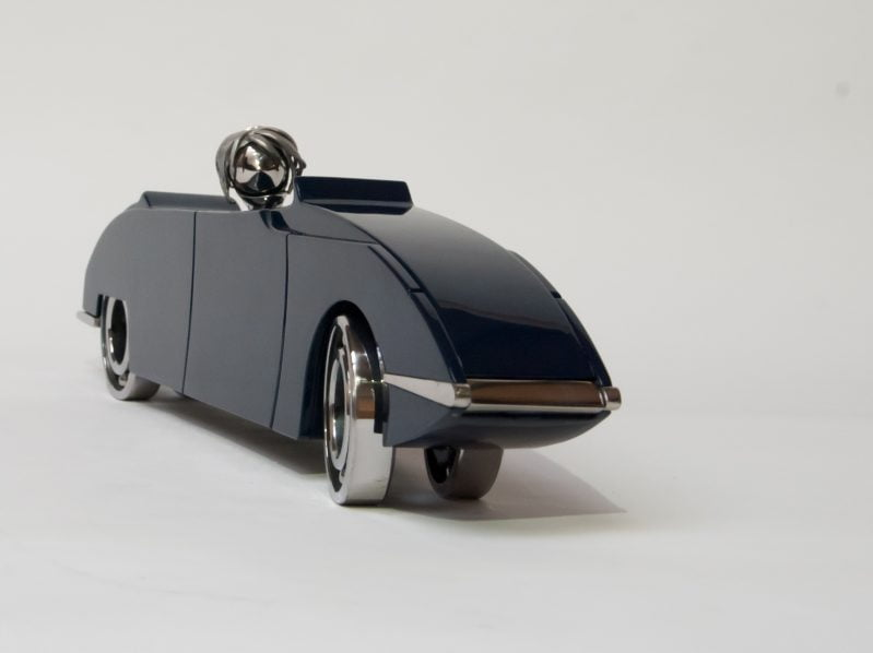 citroen ds cabrio bart somers sculptuur staal