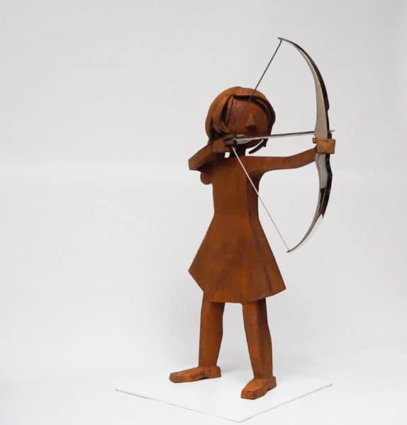 girl with bow and arrow bart somers beeld online